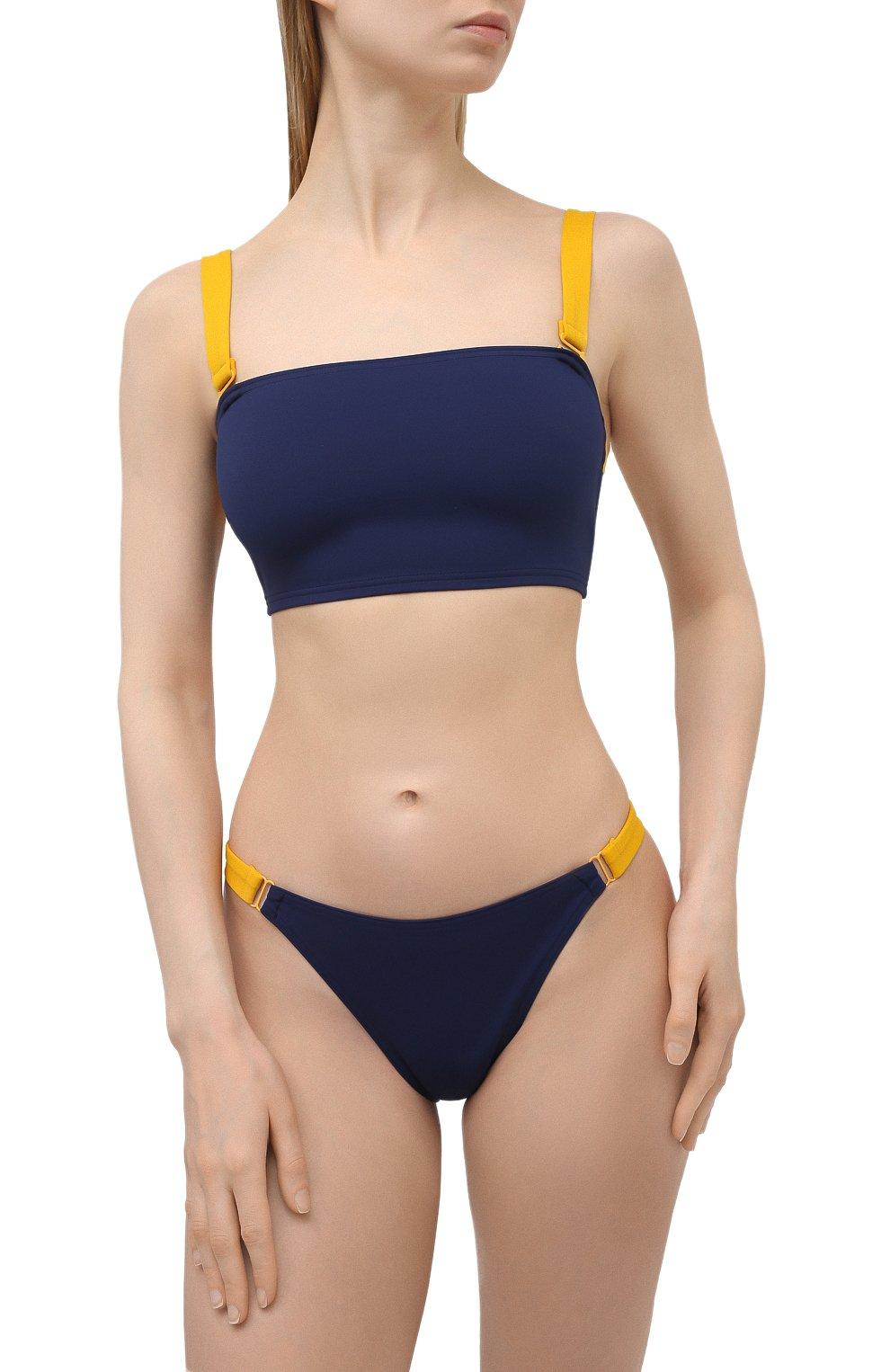 Женский раздельный купальник SHAN темно-синего цвета, арт. 42195-26-42195-31 | Фото 2 (Материал внешний: Синтетический материал)