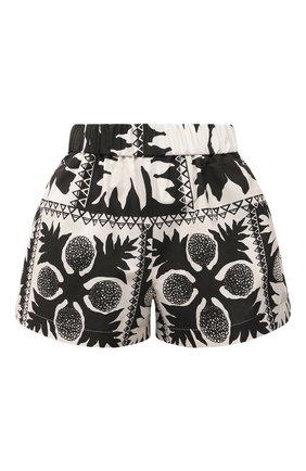 Женские шорты REDVALENTINO черно-белого цвета, арт. VR0RFE95/5SA | Фото 1