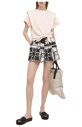 Женские шорты REDVALENTINO черно-белого цвета, арт. VR0RFE95/5SA | Фото 2