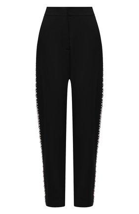Женские шерстяные брюки BALMAIN черного цвета, арт. VF15248/167L | Фото 1