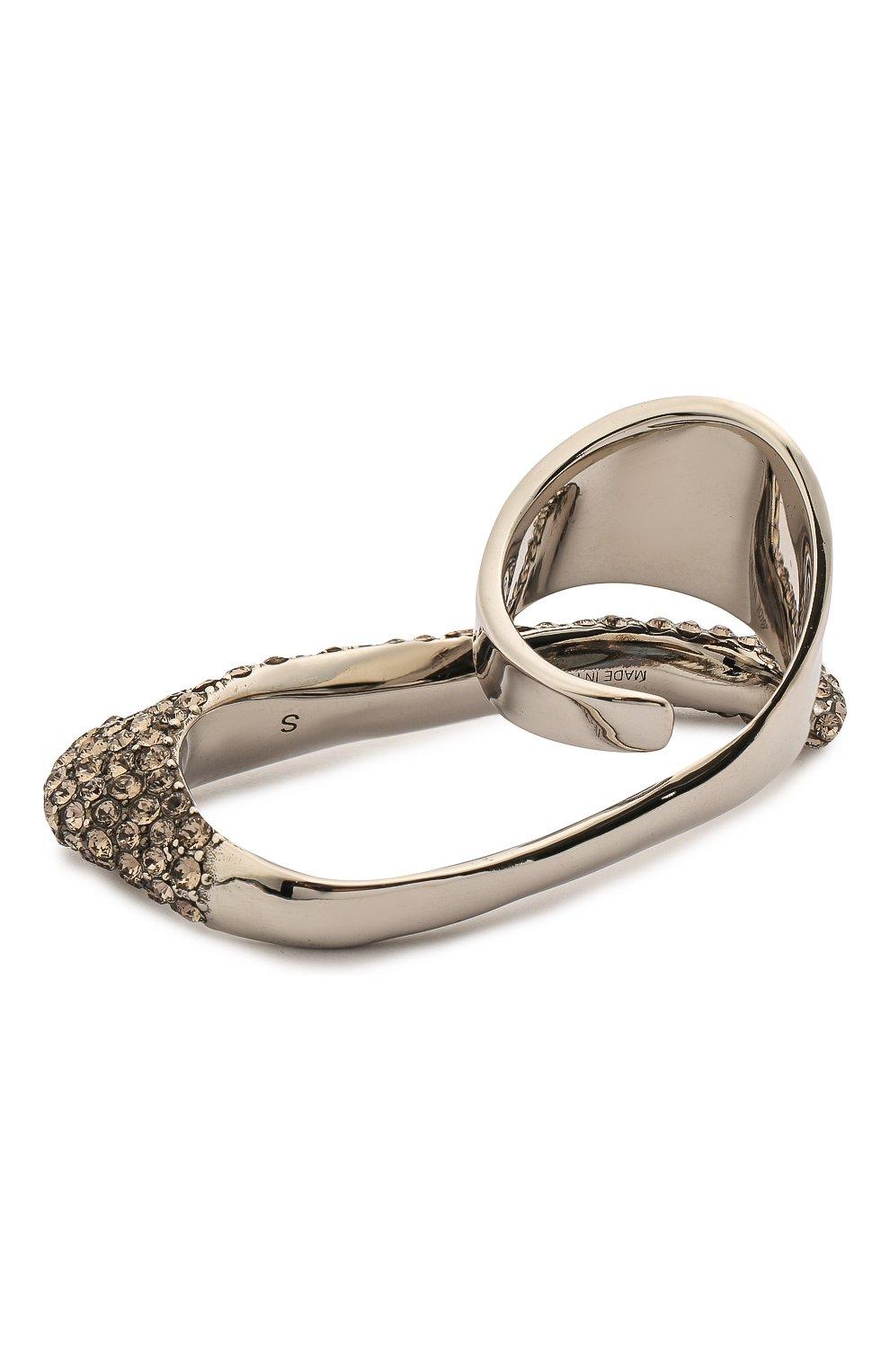 Женское кольцо ALEXANDER MCQUEEN серебряного цвета, арт. 659640/J160Y   Фото 2