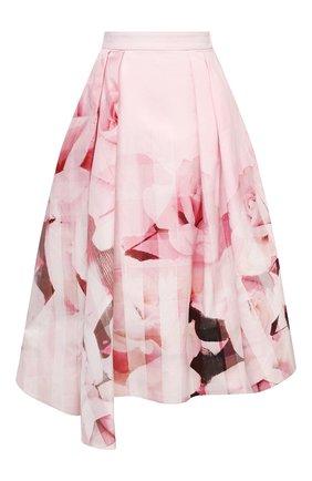 Женская хлопковая юбка ALEXANDER MCQUEEN розового цвета, арт. 651667/QCACC   Фото 1
