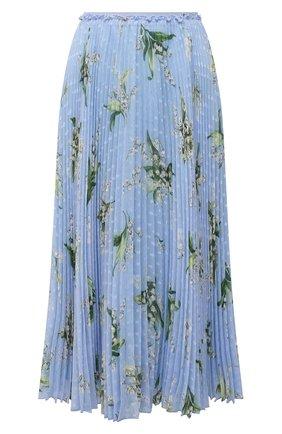 Женская плиссированная юбка REDVALENTINO голубого цвета, арт. VR3RAC20/5LV | Фото 1