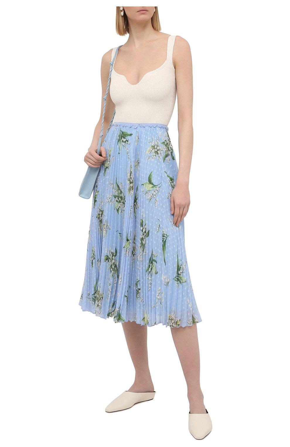 Женская плиссированная юбка REDVALENTINO голубого цвета, арт. VR3RAC20/5LV | Фото 2
