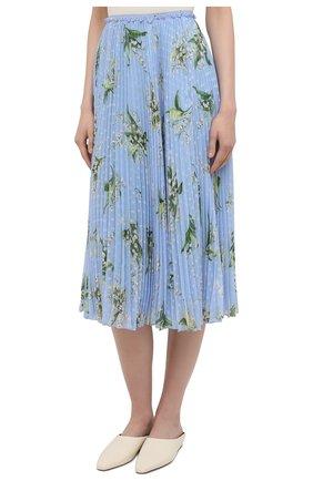 Женская плиссированная юбка REDVALENTINO голубого цвета, арт. VR3RAC20/5LV | Фото 3