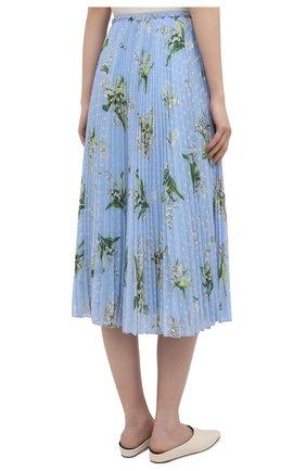 Женская плиссированная юбка REDVALENTINO голубого цвета, арт. VR3RAC20/5LV | Фото 4