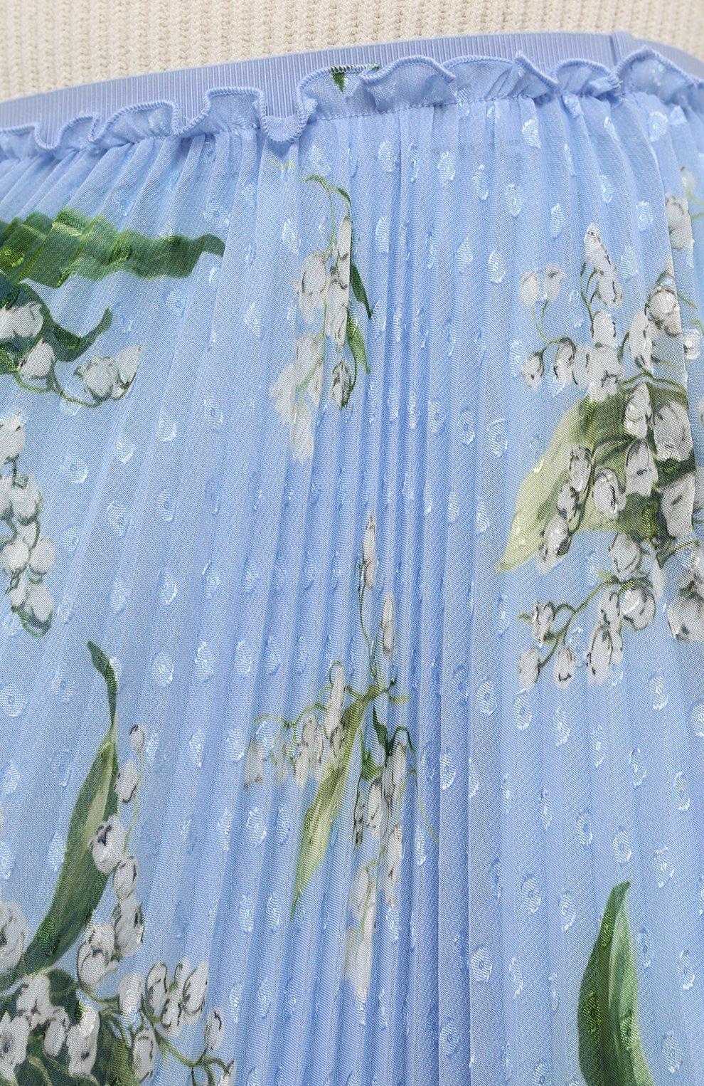 Женская плиссированная юбка REDVALENTINO голубого цвета, арт. VR3RAC20/5LV | Фото 5