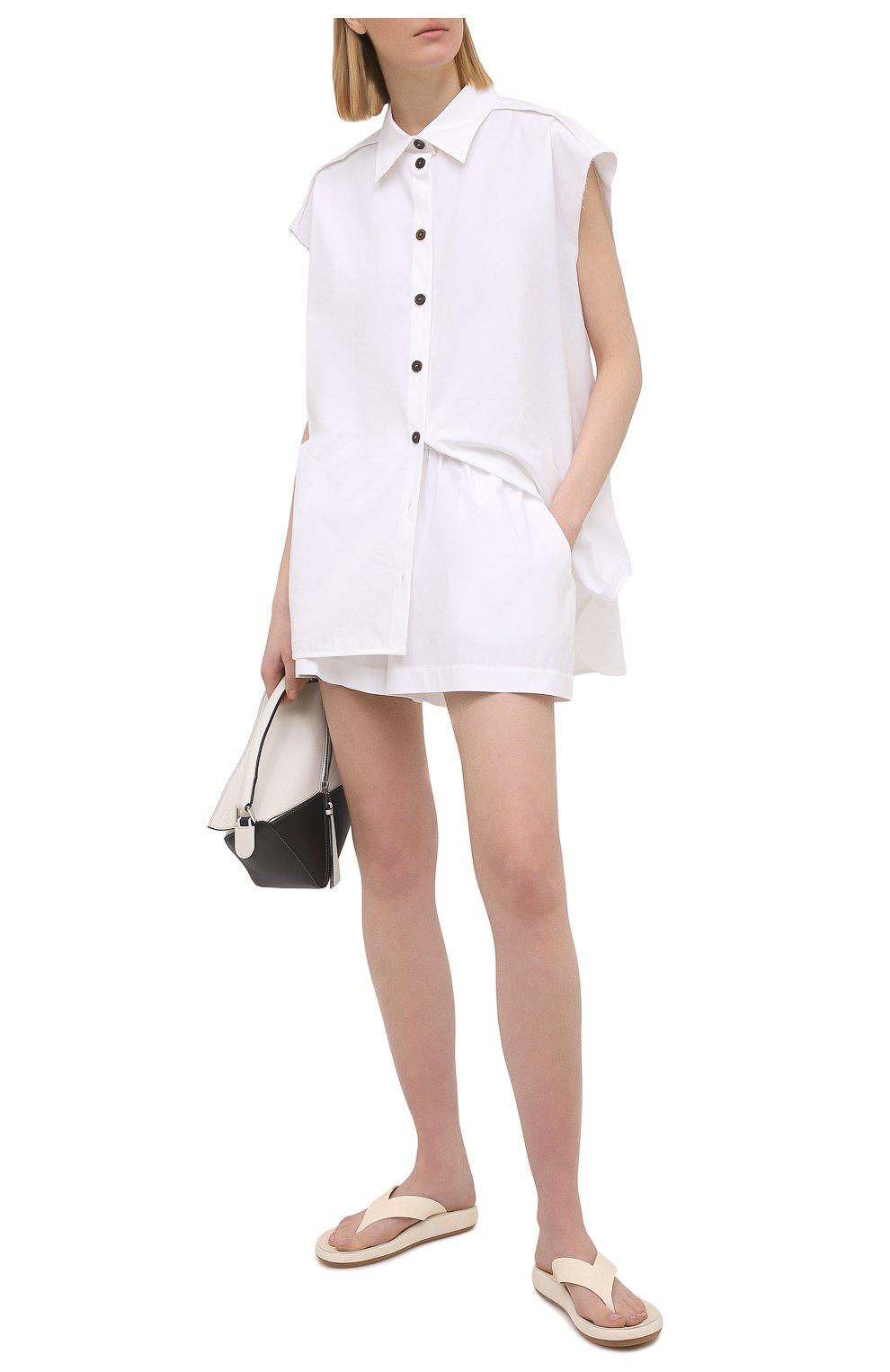 Женские хлопковые шорты REDVALENTINO белого цвета, арт. VR0RFE95/0VU   Фото 2
