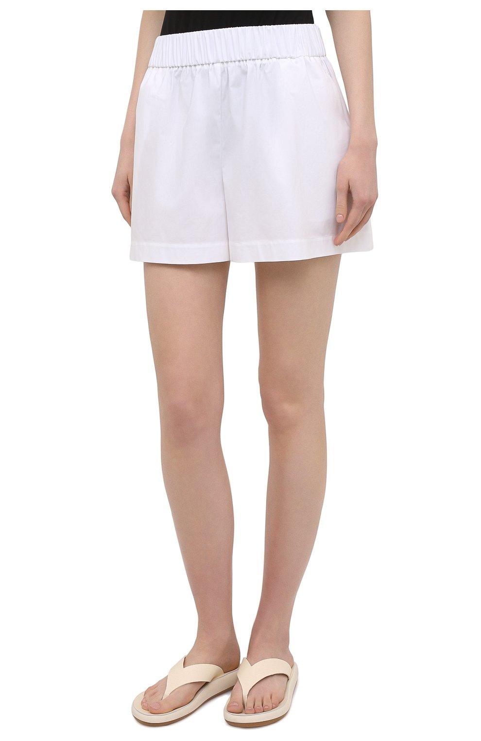 Женские хлопковые шорты REDVALENTINO белого цвета, арт. VR0RFE95/0VU   Фото 3