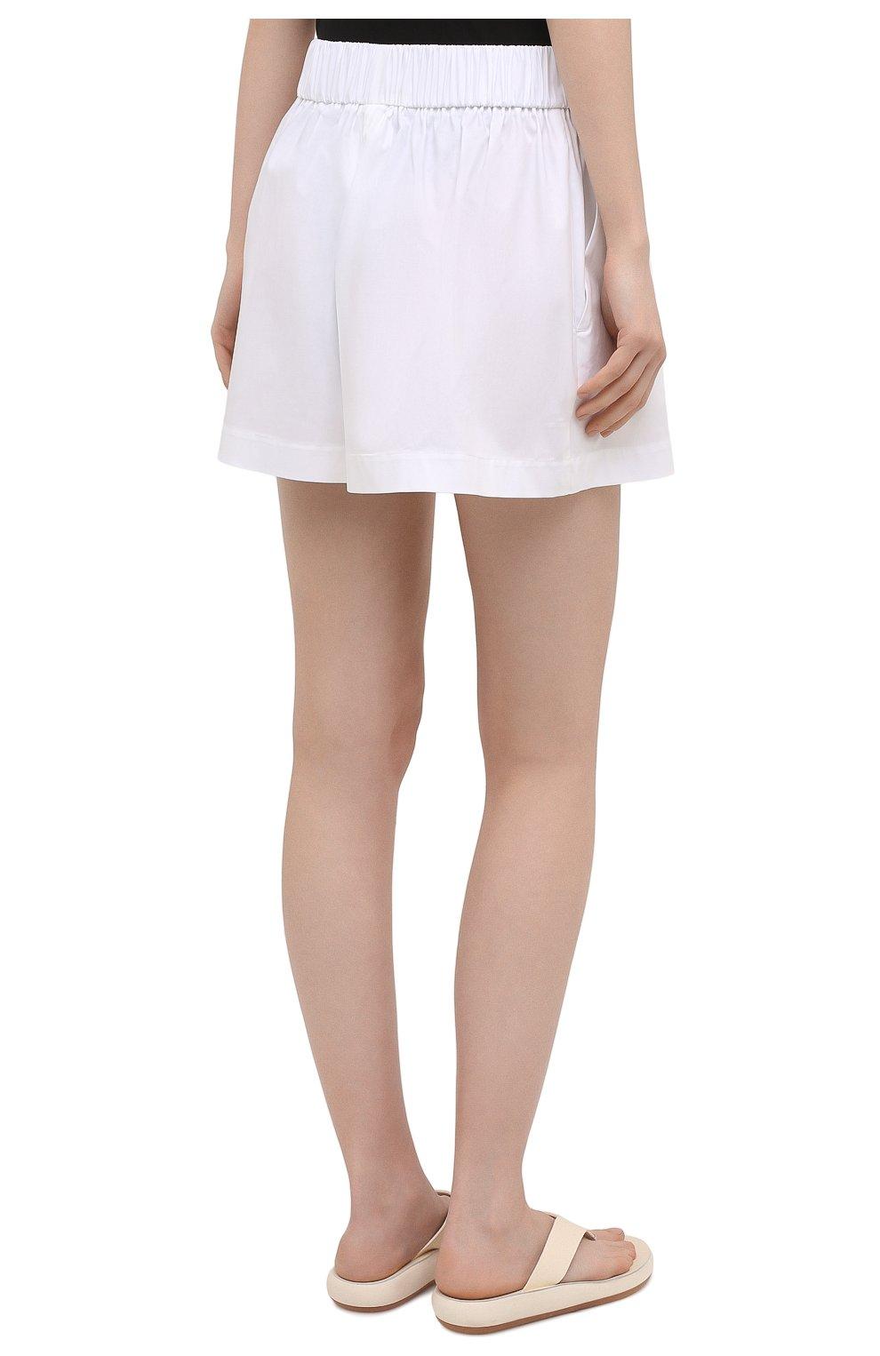 Женские хлопковые шорты REDVALENTINO белого цвета, арт. VR0RFE95/0VU   Фото 4
