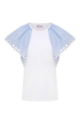 Женская хлопковая футболка REDVALENTINO белого цвета, арт. VR0MG09I/5W5 | Фото 1