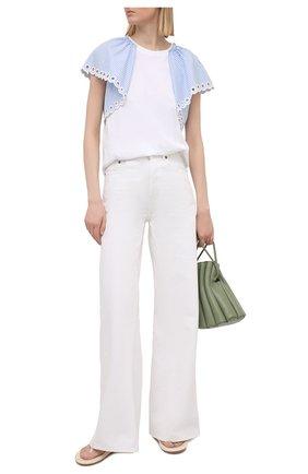 Женская хлопковая футболка REDVALENTINO белого цвета, арт. VR0MG09I/5W5 | Фото 2