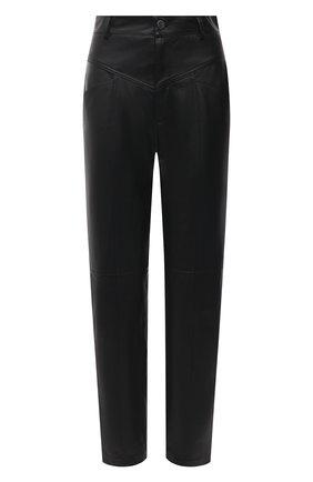 Женские кожаные брюки SIMONETTA RAVIZZA черного цвета, арт. S01PS03L1/001 | Фото 1