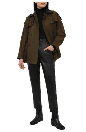 Женские кожаные брюки SIMONETTA RAVIZZA черного цвета, арт. S01PS03L1/001 | Фото 2