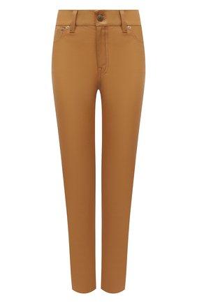 Женские кожаные брюки POLO RALPH LAUREN бежевого цвета, арт. 211782995 | Фото 1