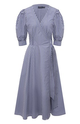 Женское хлопковое платье POLO RALPH LAUREN синего цвета, арт. 211827772 | Фото 1