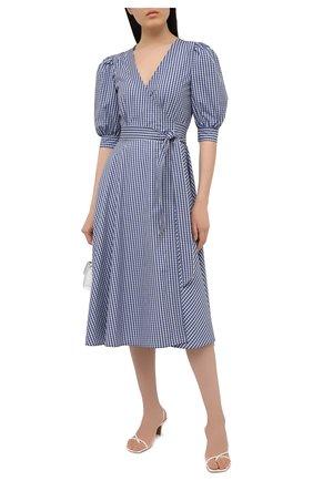 Женское хлопковое платье POLO RALPH LAUREN синего цвета, арт. 211827772 | Фото 2