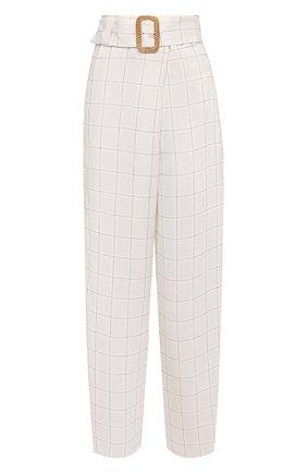 Женские льняные брюки GIORGIO ARMANI белого цвета, арт. 1SHPP0H9/T02FN | Фото 1