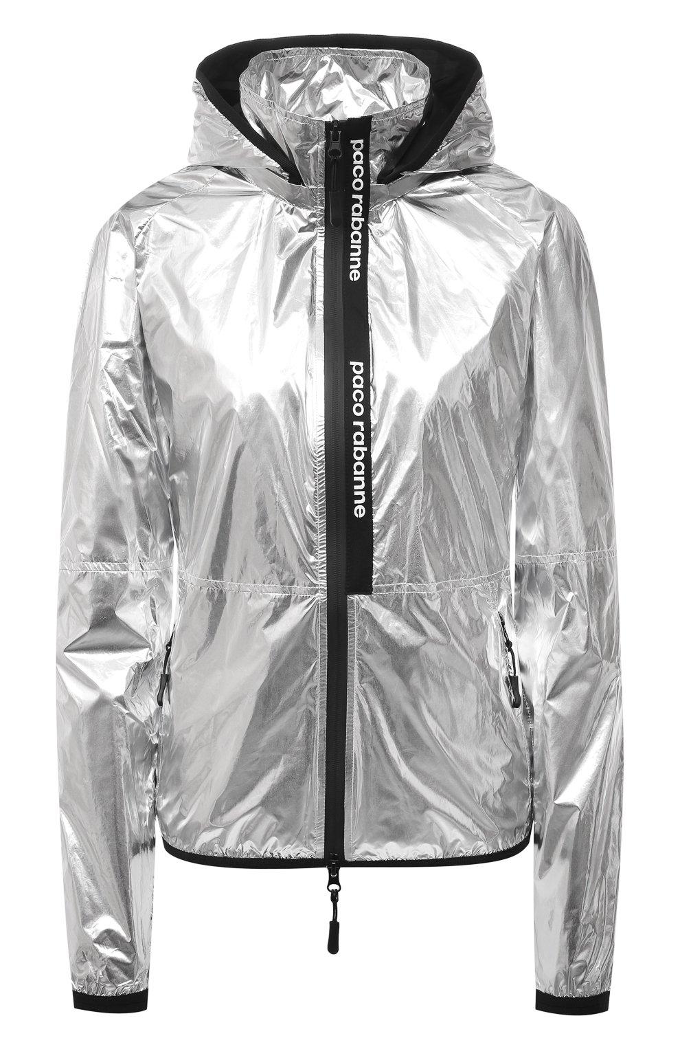 Женская куртка PACO RABANNE серебряного цвета, арт. 19ACVE003PA0132 | Фото 1