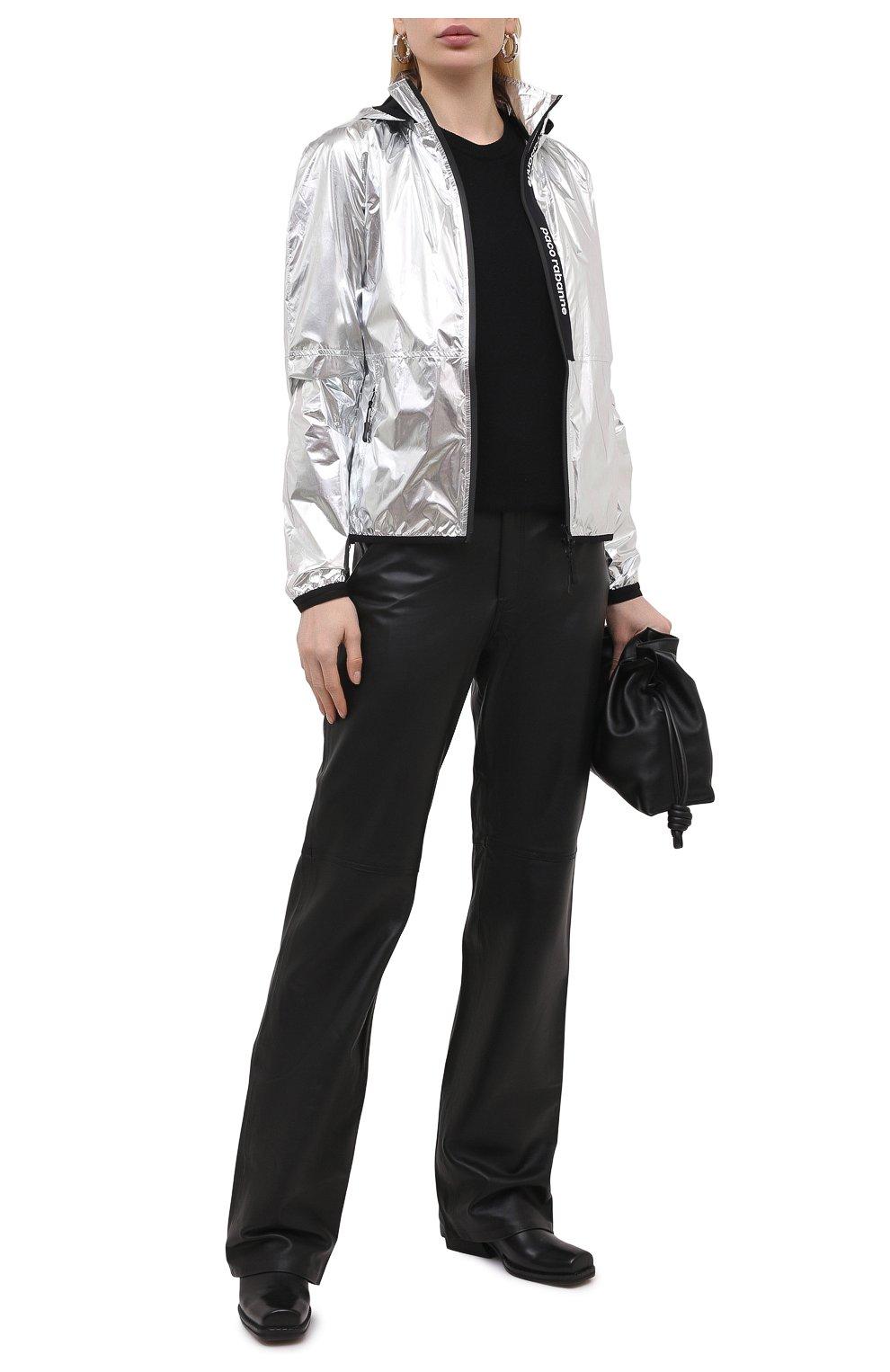 Женская куртка PACO RABANNE серебряного цвета, арт. 19ACVE003PA0132 | Фото 2