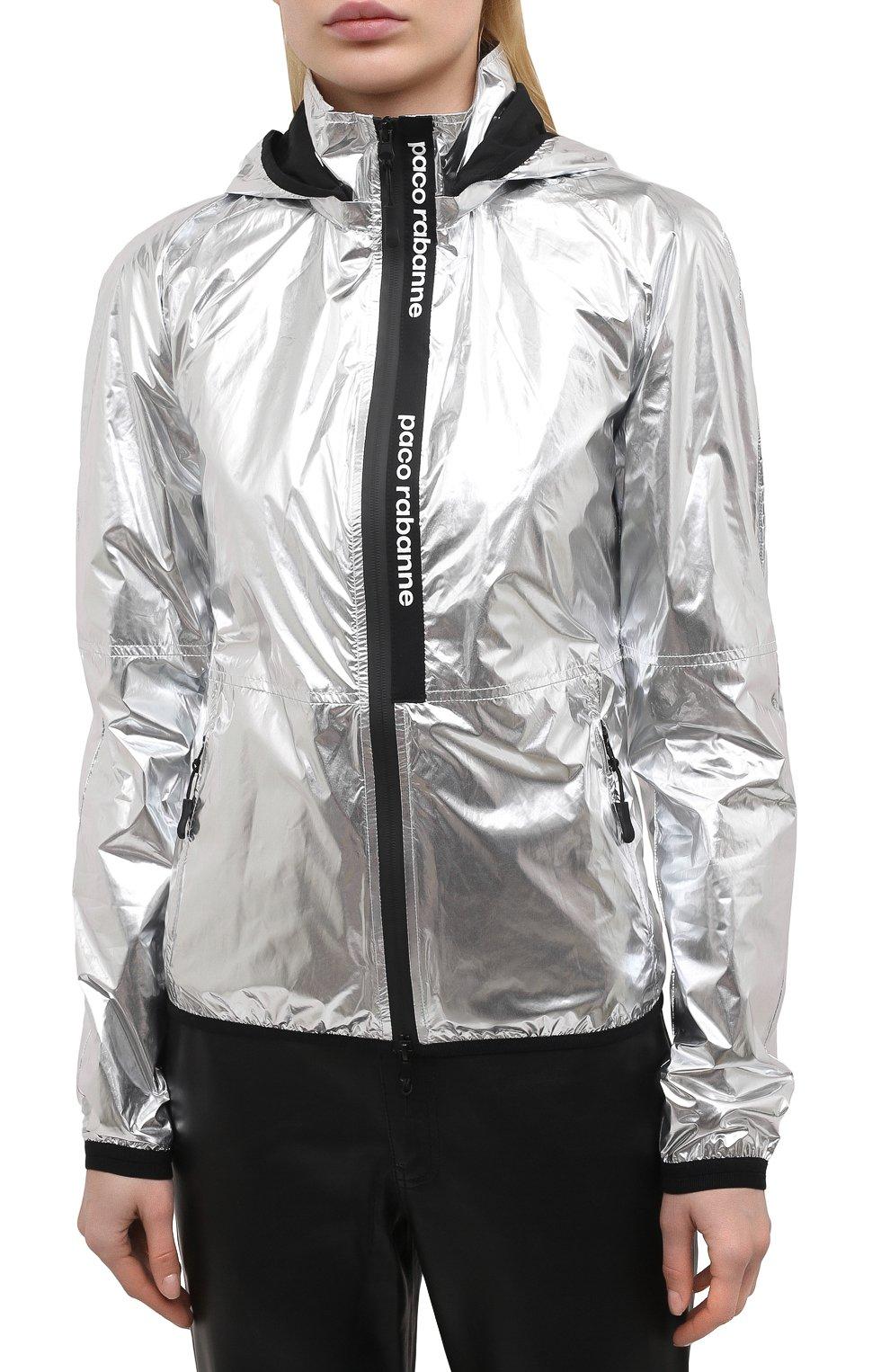 Женская куртка PACO RABANNE серебряного цвета, арт. 19ACVE003PA0132 | Фото 3