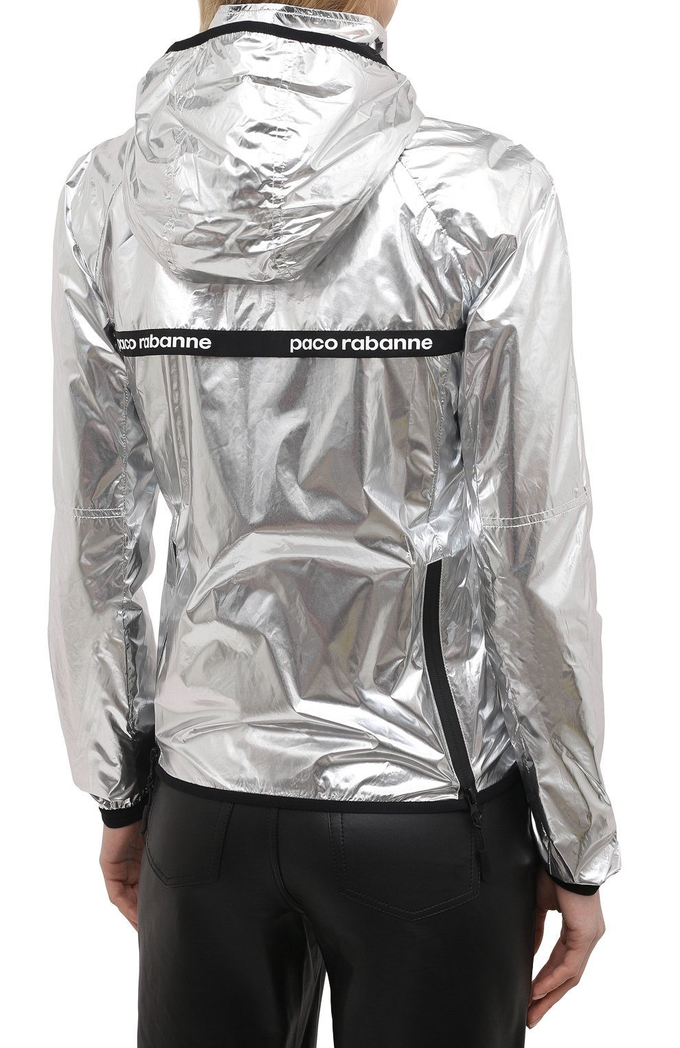 Женская куртка PACO RABANNE серебряного цвета, арт. 19ACVE003PA0132 | Фото 4