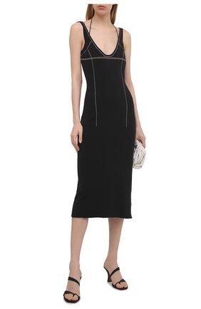 Женское платье JACQUEMUS черного цвета, арт. 211KN36/203990 | Фото 2