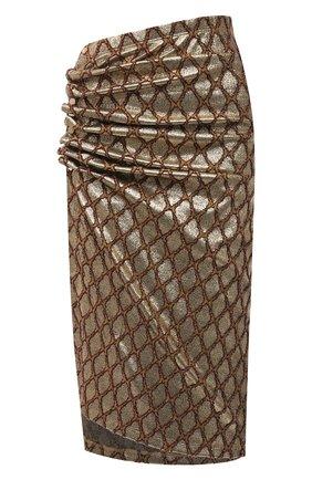 Женская юбка PACO RABANNE золотого цвета, арт. 21PJJU007VI0285 | Фото 1