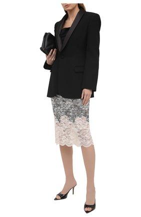 Женская юбка PACO RABANNE серебряного цвета, арт. 21EJJU201PA0173 | Фото 2