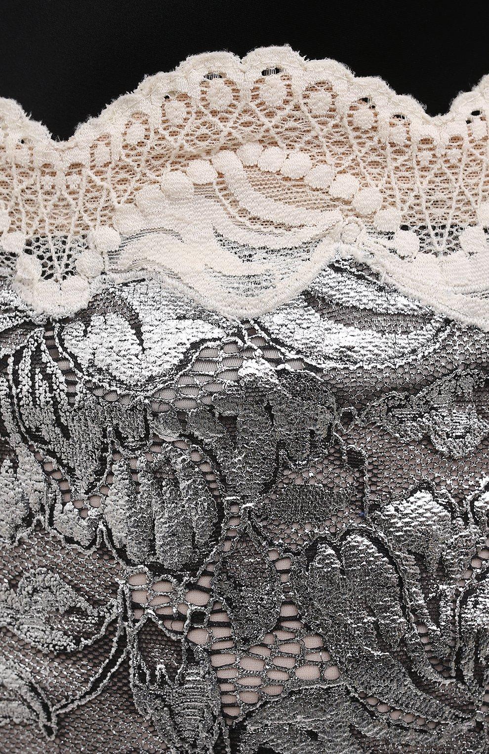 Женская юбка PACO RABANNE серебряного цвета, арт. 21EJJU201PA0173 | Фото 5