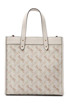 Женский сумка-тоут field COACH белого цвета, арт. 89143   Фото 1