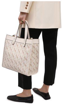 Женский сумка-тоут field COACH белого цвета, арт. 89143   Фото 2