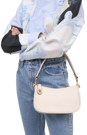 Женская сумка swinger COACH кремвого цвета, арт. C0638   Фото 2