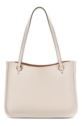 Женский сумка tyler COACH светло-бежевого цвета, арт. C2273 | Фото 1 (Сумки-технические: Сумки top-handle, Сумки-шопперы; Материал: Натуральная кожа; Размер: large)