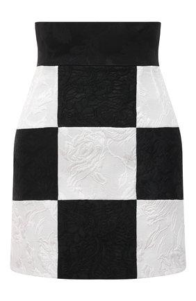 Женская юбка DOLCE & GABBANA черно-белого цвета, арт. F4B1YT/GDX76 | Фото 1