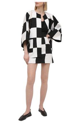 Женская юбка DOLCE & GABBANA черно-белого цвета, арт. F4B1YT/GDX76 | Фото 2