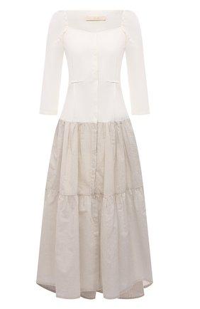 Женское хлопковое платье TELA кремвого цвета, арт. 01 0151 01 0002 | Фото 1