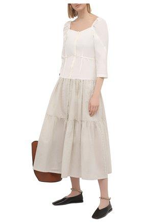 Женское хлопковое платье TELA кремвого цвета, арт. 01 0151 01 0002 | Фото 2