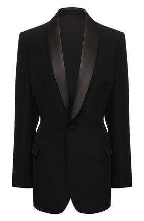 Женский шерстяной жакет WARDROBE.NYC черного цвета, арт. W4011R05 | Фото 1