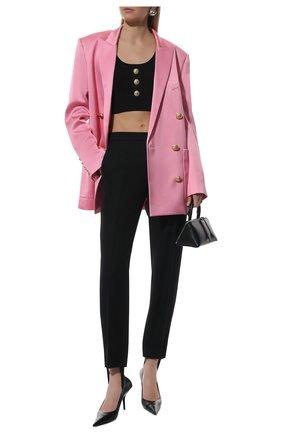 Женские брюки со штрипками WARDROBE.NYC черного цвета, арт. W2015R05 | Фото 2