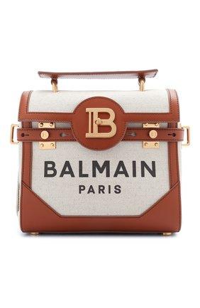 Женская сумка bbuzz 23 BALMAIN коричневого цвета, арт. VN0DB530/TCFN | Фото 1