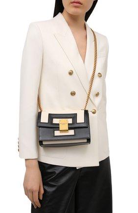 Женская сумка 1945 small BALMAIN черно-белого цвета, арт. VN0BJ605/LMSX | Фото 2