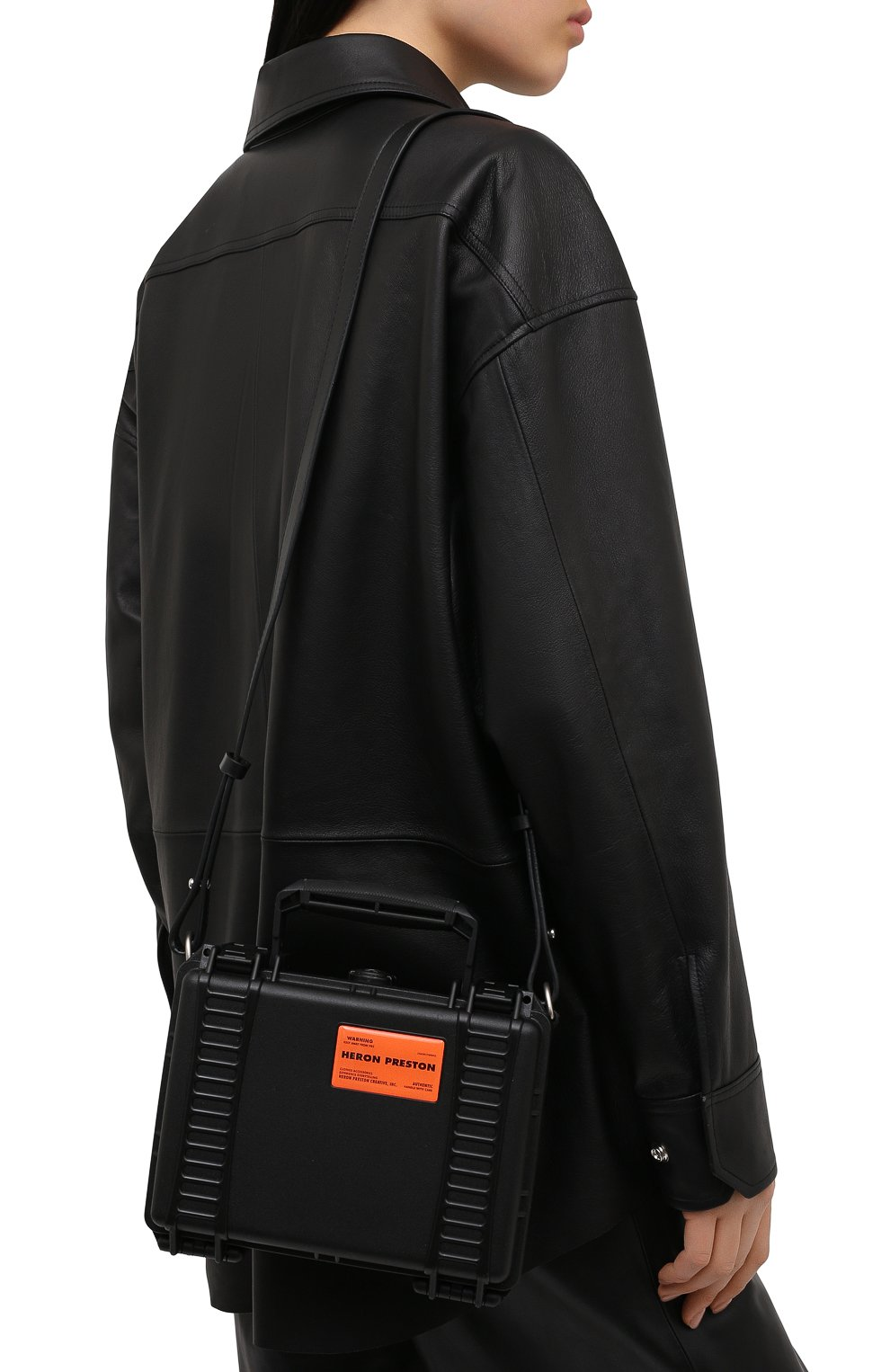 Женская сумка HERON PRESTON черного цвета, арт. HWNN001R21PLA0011010 | Фото 5