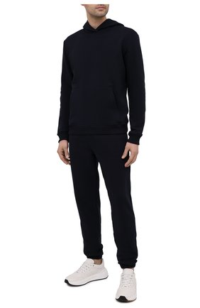 Мужской хлопковый спортивный костюм SEVEN LAB темно-синего цвета, арт. 66HP21-deep navy   Фото 1