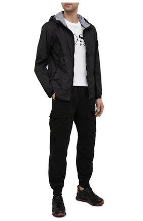 Мужская хлопковая футболка BOSS белого цвета, арт. 50450923   Фото 2