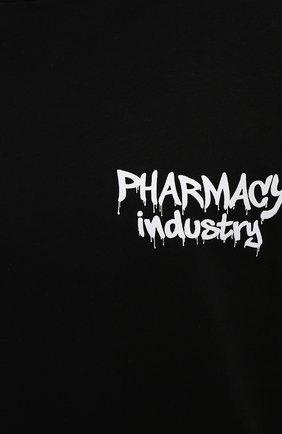 Мужская хлопковая футболка PHARMACY INDUSTRY черного цвета, арт. PHM242 | Фото 5