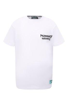 Мужская хлопковая футболка PHARMACY INDUSTRY белого цвета, арт. PHM242 | Фото 1