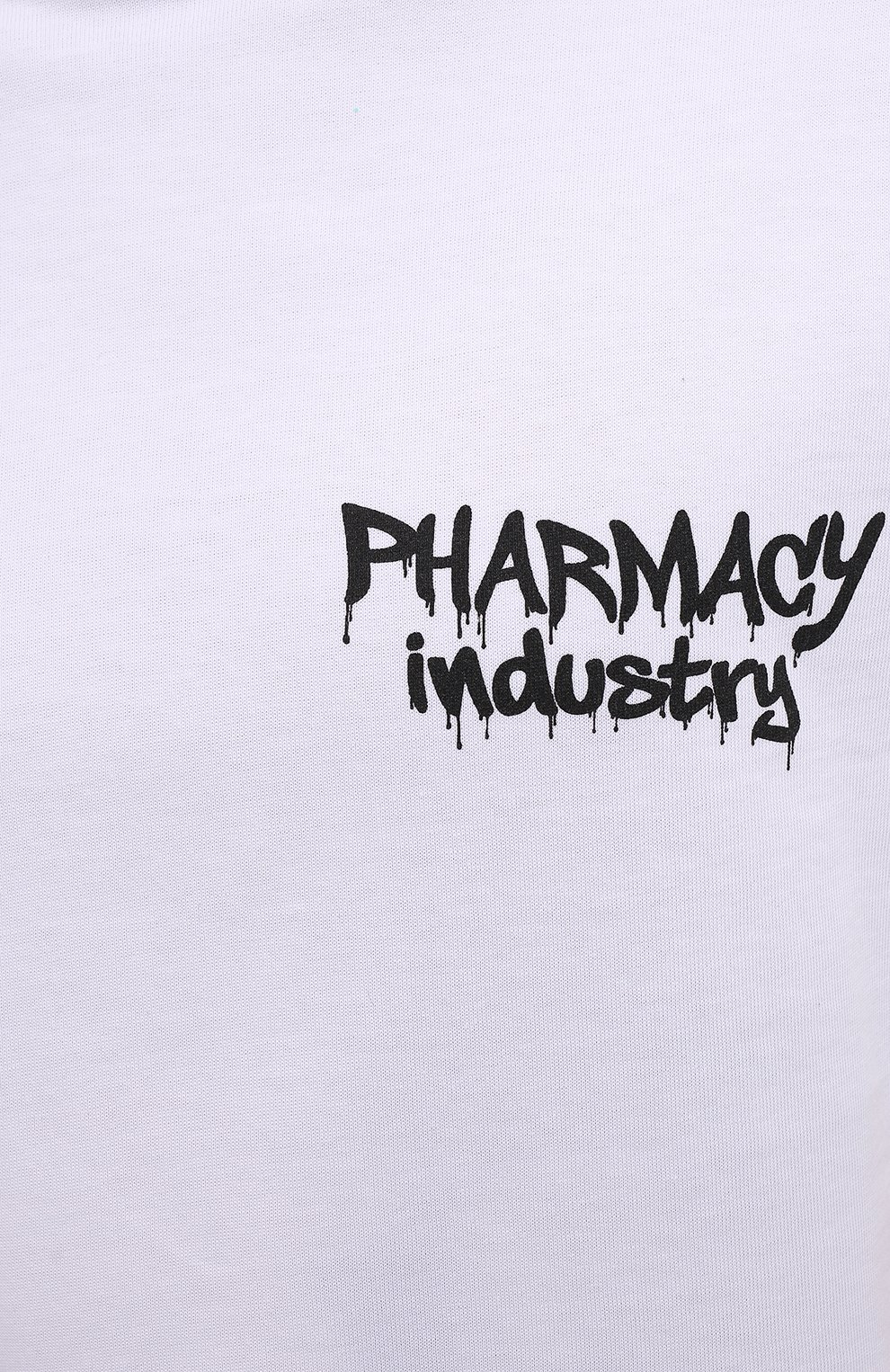 Мужская хлопковая футболка PHARMACY INDUSTRY белого цвета, арт. PHM242 | Фото 5