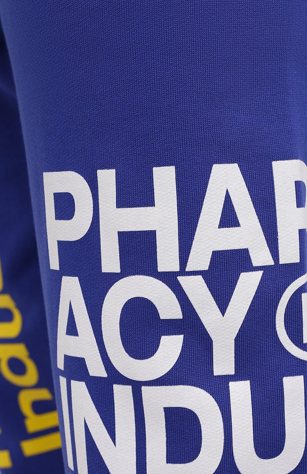 Мужские хлопковые джоггеры PHARMACY INDUSTRY синего цвета, арт. PHM228 | Фото 5