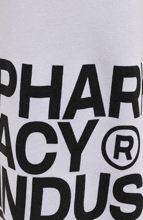 Мужские хлопковые джоггеры PHARMACY INDUSTRY белого цвета, арт. PHM228   Фото 5